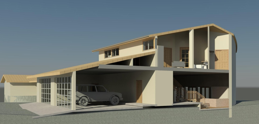 Tenorio Residence Section Perspective
