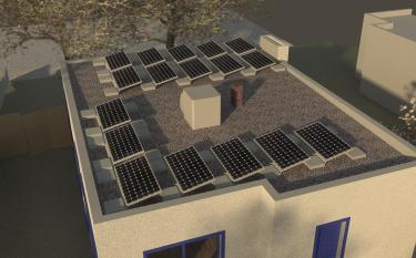 Photovoltaic Panel Rendering