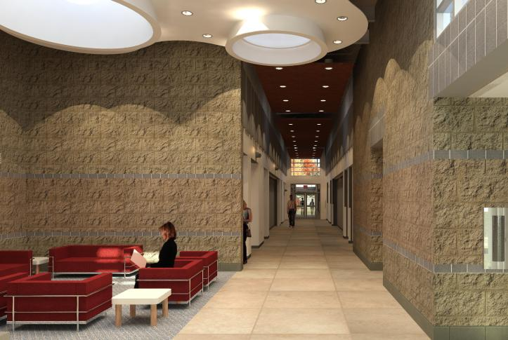 Interior - View from Lobby Toward Meeting Rooms