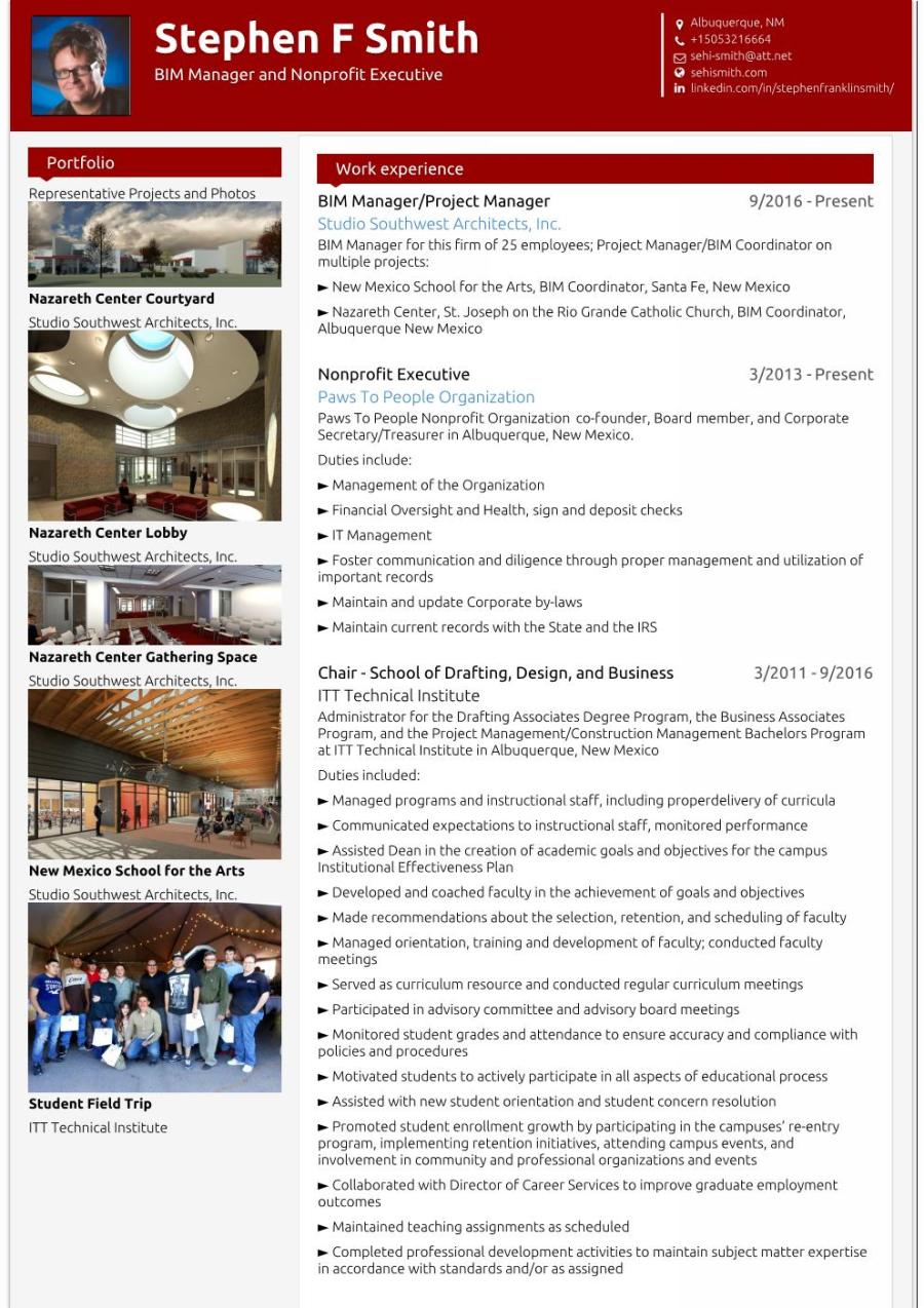 Stephen_F Smith_visualcv_resume Page 001